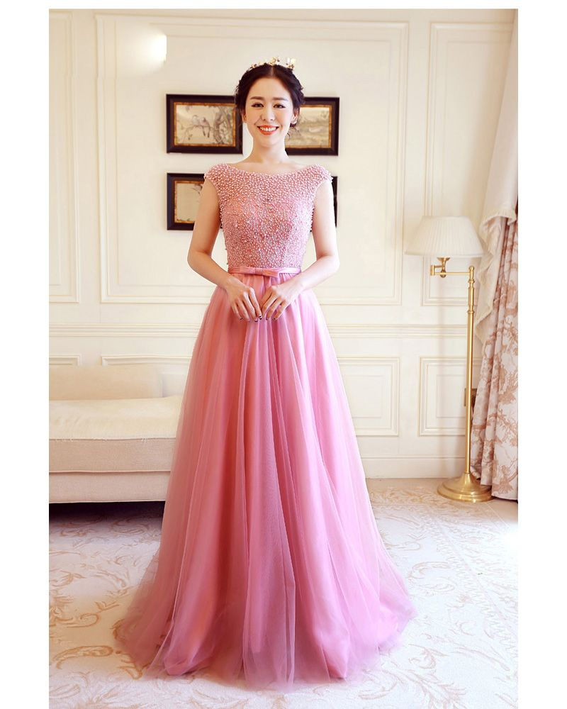 Aliexpress buy latest redpearl pink long evening dresses