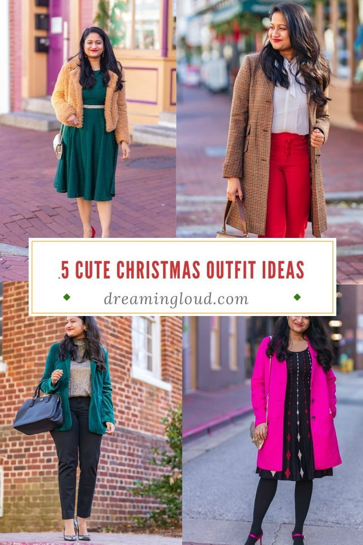 5 Cute and Stylish Holiday Christmas Party Outfits Ideas | dreamingloud.com #christmasoutfits #holidayoutfits #womenfashion #dreamingloud #sweaterdress #velvetblazer #nyeoutfitideas #holidaystyle #christmaslook