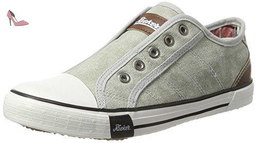 Rieker M2270, Sneakers Basses Femme, Gris (Shark/Brown / 40), 36 EU - Chaussures rieker (*Partner-Link)