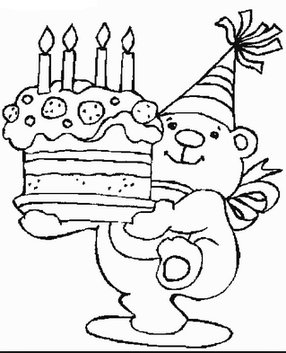 Free Happy Birthday Coloring Pages for Kids | Coloring pages | Pinterest