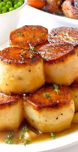 Garlic Thyme Fondant Potatoes A Homey Yet Elegant Side Dish Recipe Fondant Potatoes Fancy Dinner Recipes Dinner Party Recipes