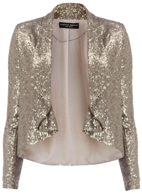 17ce19fd8c4d Dorothy Perkins Silver Sequin Jacket Size 20