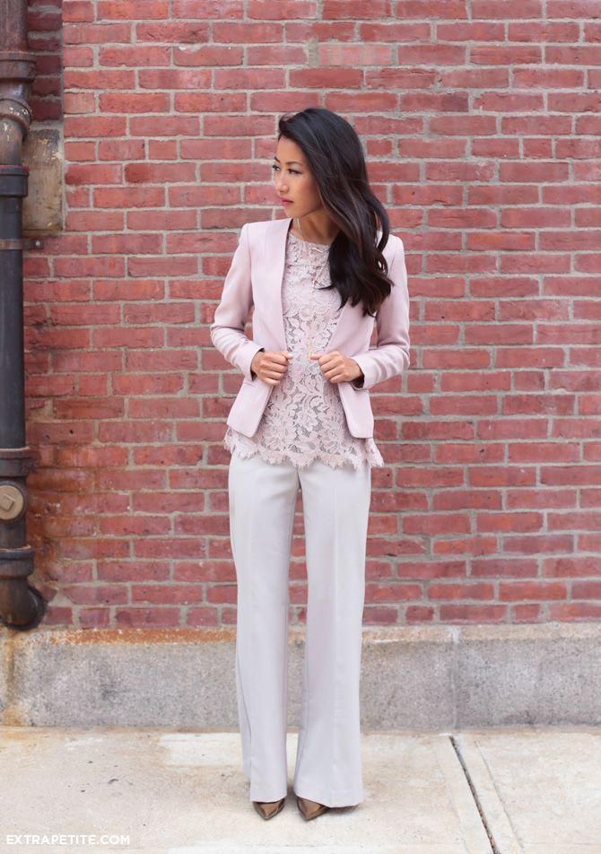 Lilac lace for work and weekends - Extra Petite