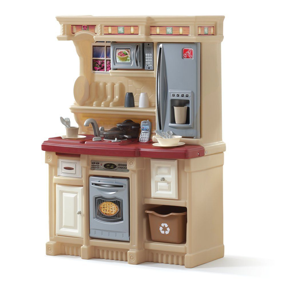 Amazon Com Step2 Lifestyle Custom Kitchen Black And Red Toy
