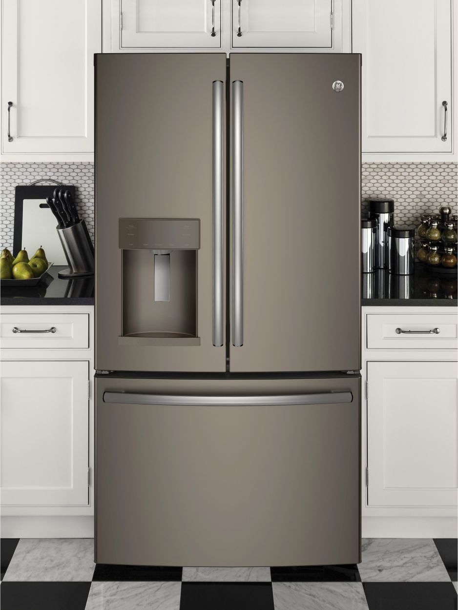 Gfe28gmkes By Ge French Door Refrigerators Goedekers Com French Door Refrigerator French Doors