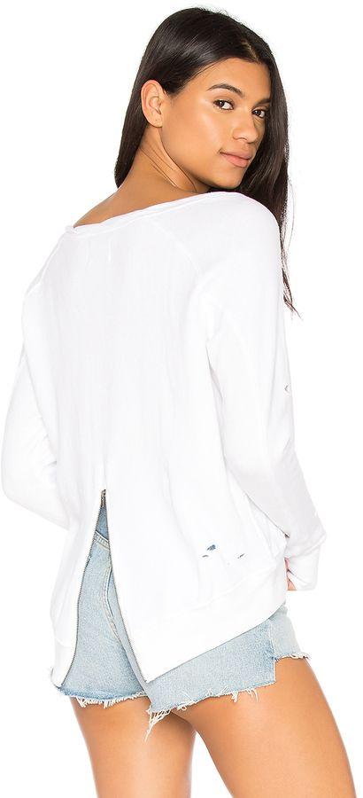 Pam & Gela Destroyed Annie Hi Lo Sweatshirt | #Chic Only #Glamour Always