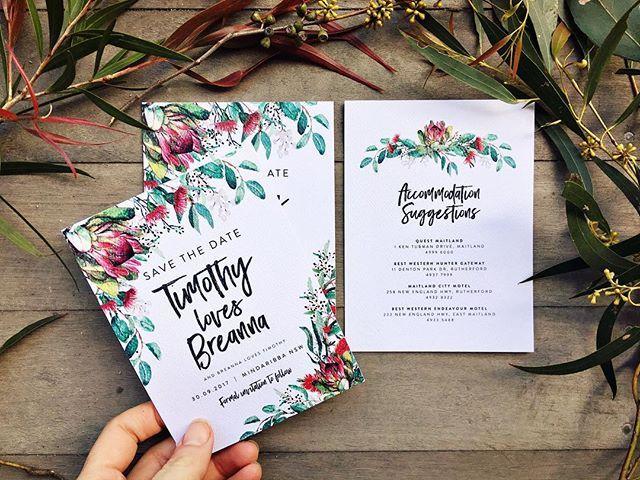 Native American Wedding Invitations: Australiana Save The Date And Wedding Invitation Set
