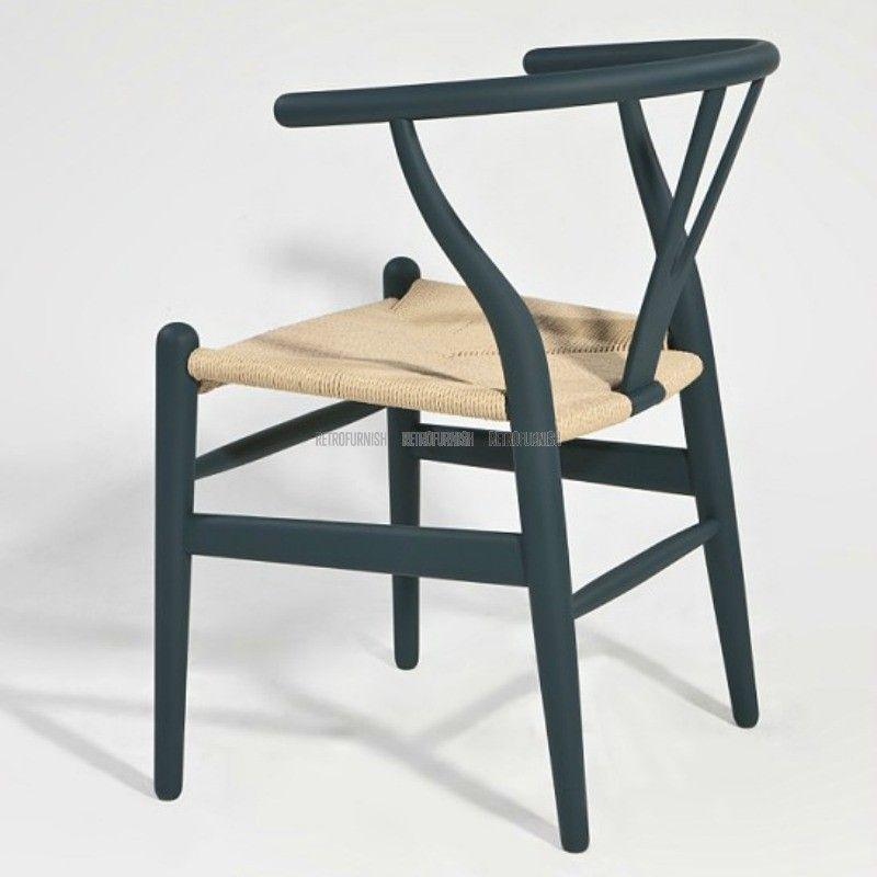 Cool wishbone stoel ch rattan kleur replica design for Replica design meubelen