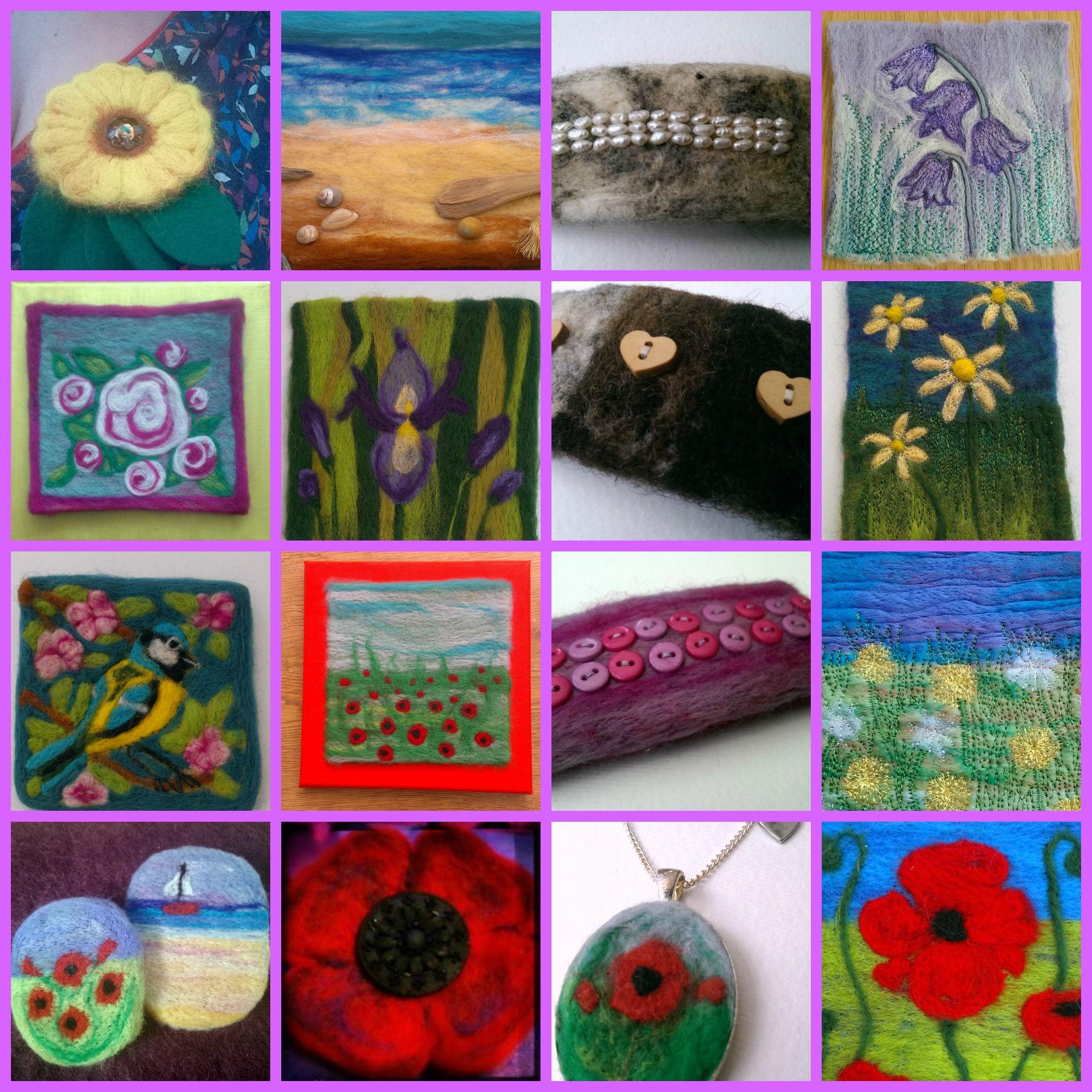 Collage of my work. Beadie Eyed Edie https://folksy.com/shops/BeadieEyedEdie