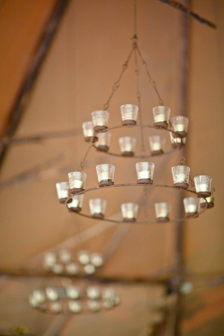 Tea light chandelier inside the tipi fforest wales camping in tea light chandelier inside the tipi fforest wales aloadofball Gallery