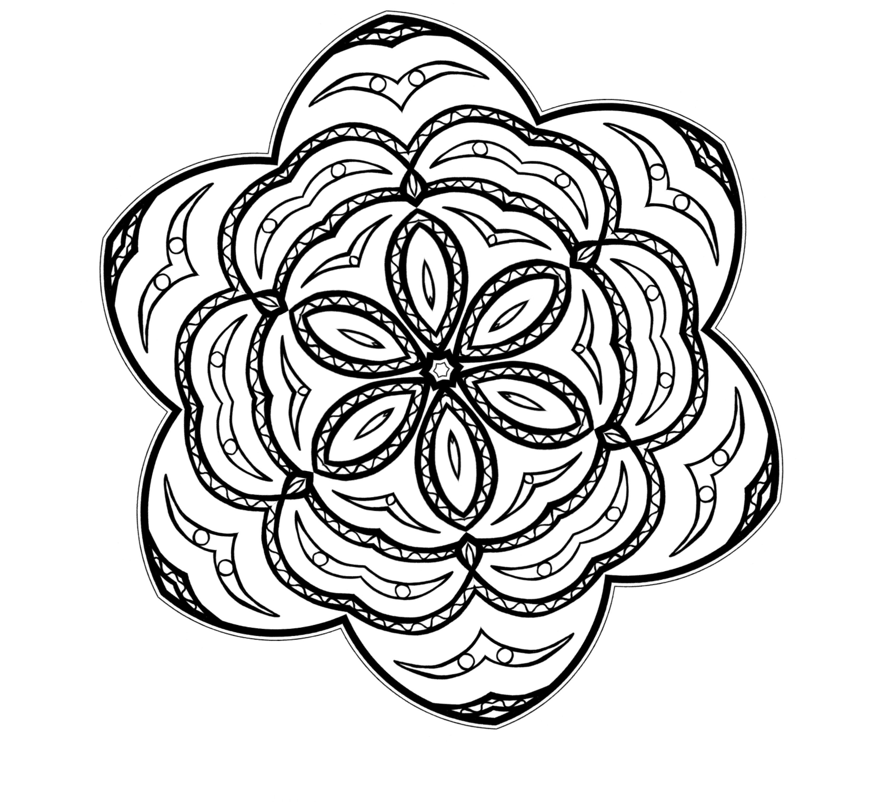dibujos de mandalas de flores para colorear | MANDALAS | Pinterest ...