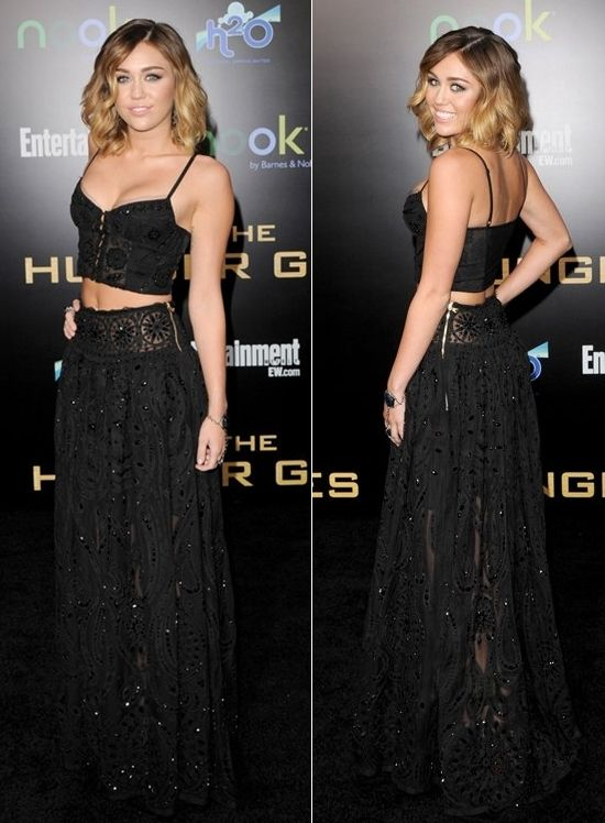 """Miley Cyrus in Emilio Pucci @ """"The Hunger Games"""" Premiere, Los ..."""