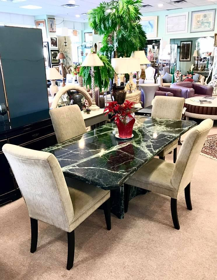Pedestal Green Marble Dining Table Dining Room Sets Dining
