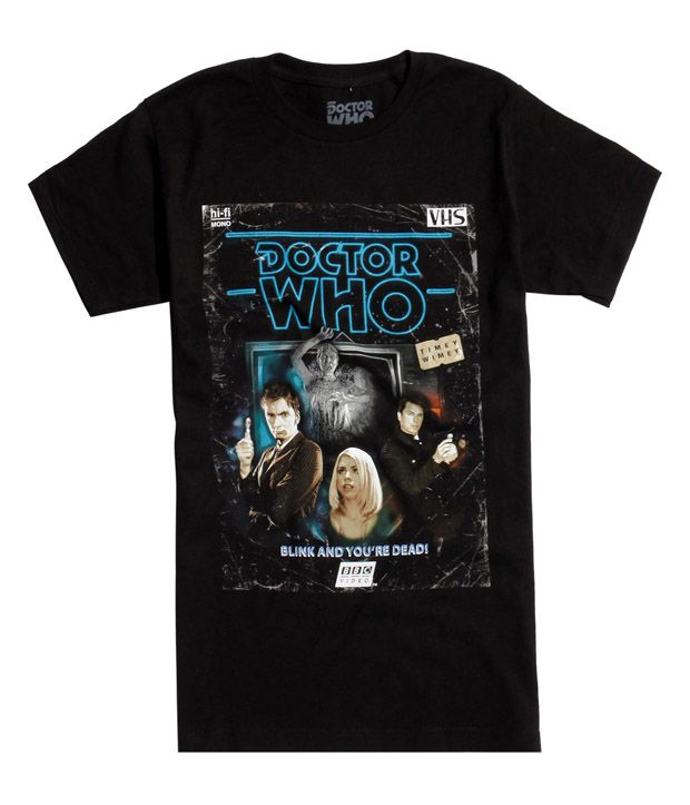Doctor Who Terror Of The Daleks Retro VHS T-Shirt