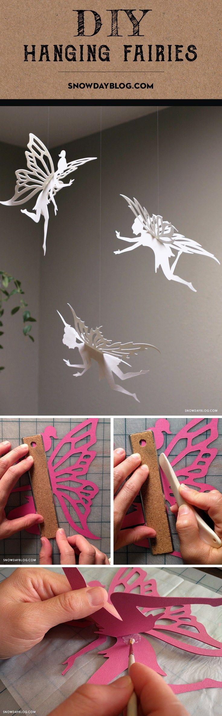 Photo of DIY Hanging Fairies » DIY Tutorials Of Unique Paper Crafts