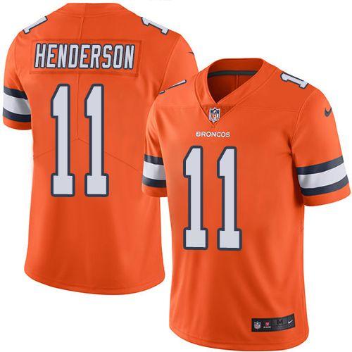 Youth Nike Denver Broncos 11 Carlos Henderson Limited Orange Rush Nfl Jersey Nfl Jerseys Denver Broncos Jersey Nfl