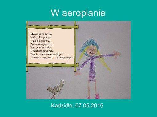 Storyjumper Book W Aeroplanie Wiersz Juliana Tuwima W