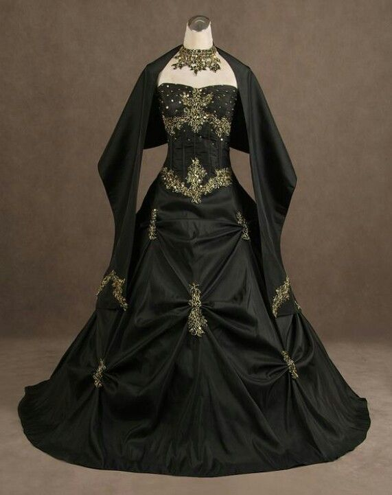 Pin By Lisa Vecchio On Fashion Gothic Wedding Dress Applique Wedding Dress Black Wedding Dresses