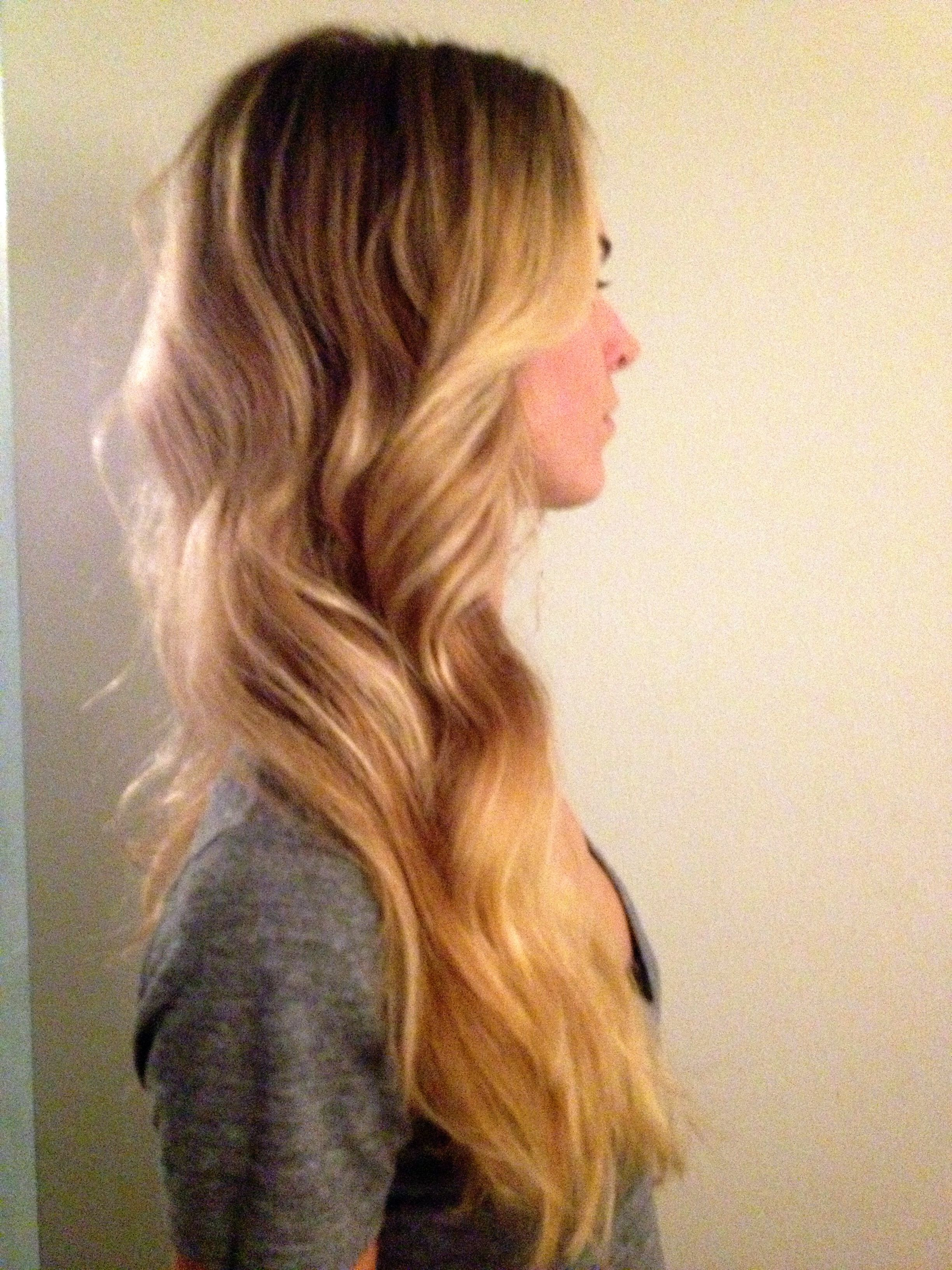 ombre balayage long blonde wavy hair brown hair with