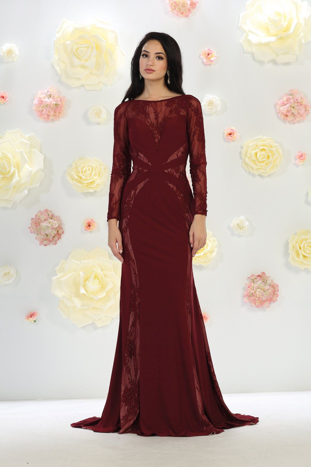 Long formal prom dress evening gown groom products pinterest