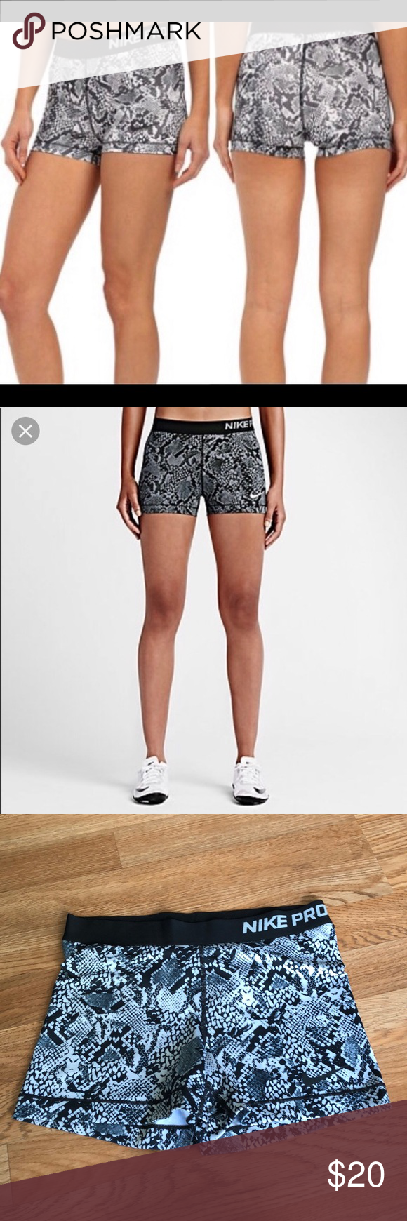 4106883b84 Snakeskin Nike Pro Spandex Shorts Nike Pro Snakeskin Spandex shorts •  Comfortable Nike Pro design •