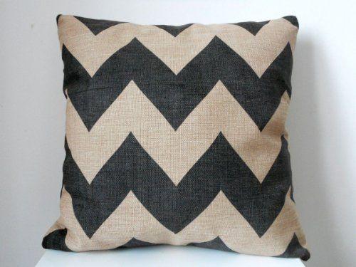 "Decorbox Cotton Linen Square Throw Pillow Case Decorative Cushion Cover Pillowcase Black Zig Zag Chevron Fade Zigzag Stripes Wave 18 ""X18 "" decorbox http://www.amazon.com/dp/B00EK60WCG/ref=cm_sw_r_pi_dp_8yQzub10Z9DNN"
