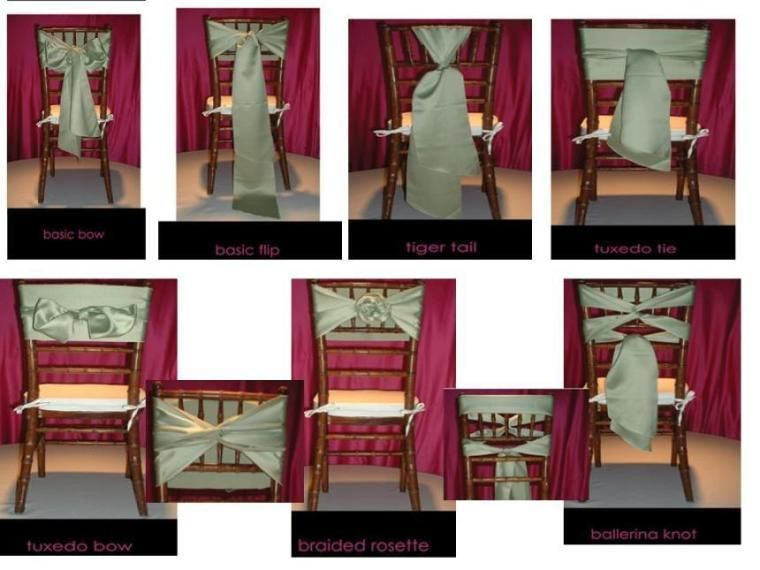 Chiavari Chairs Ties So many options Party Ideas