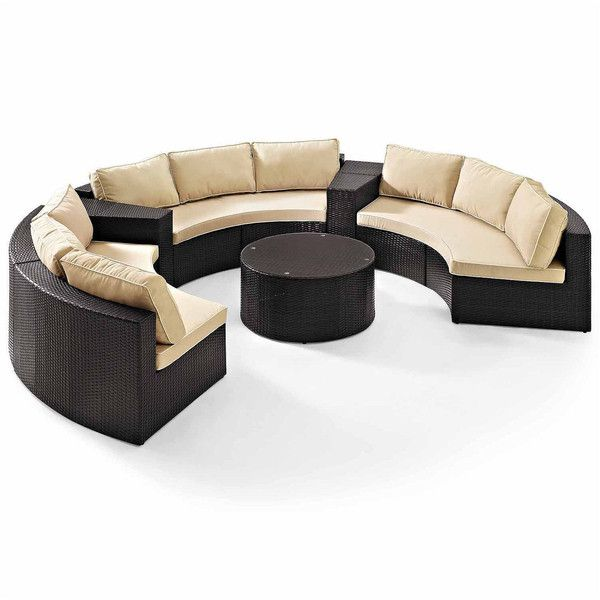 Catalina Wicker 6-pc. Patio Lounge Set ($5,660) ❤ liked on ...