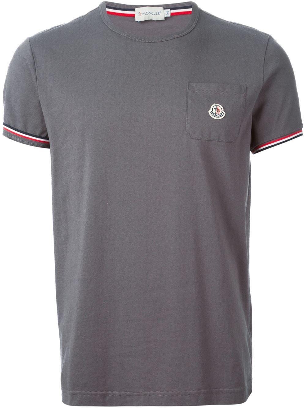 mens grey moncler t shirt