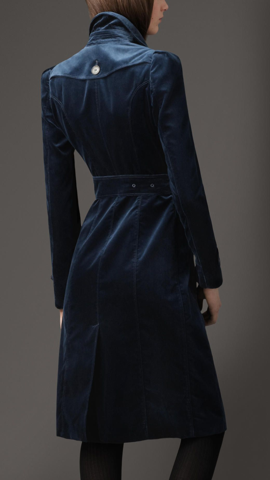 Clothes Fashion, Velvet Trench Coat For Ladies