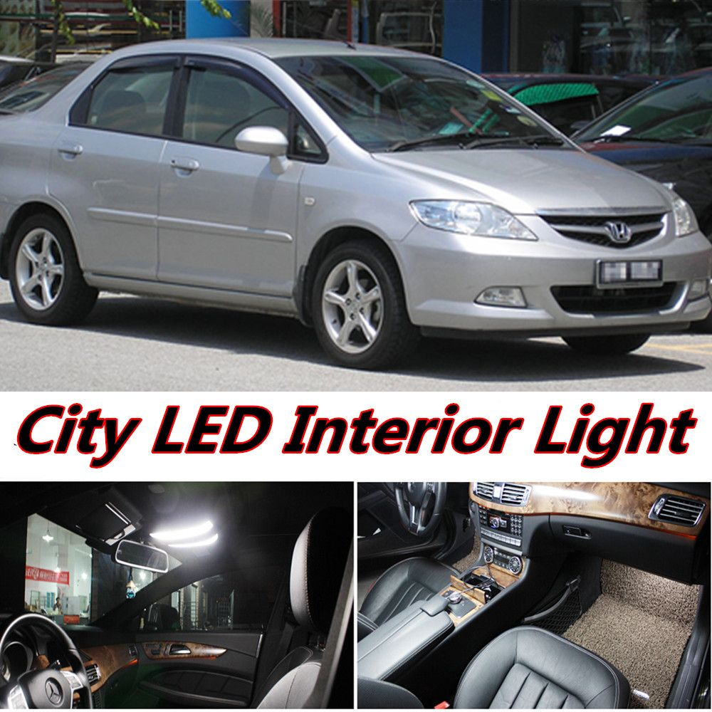 4pcs X Free Shipping Error Free LED Interior Light Kit Package For Honda  City Accessories 2002