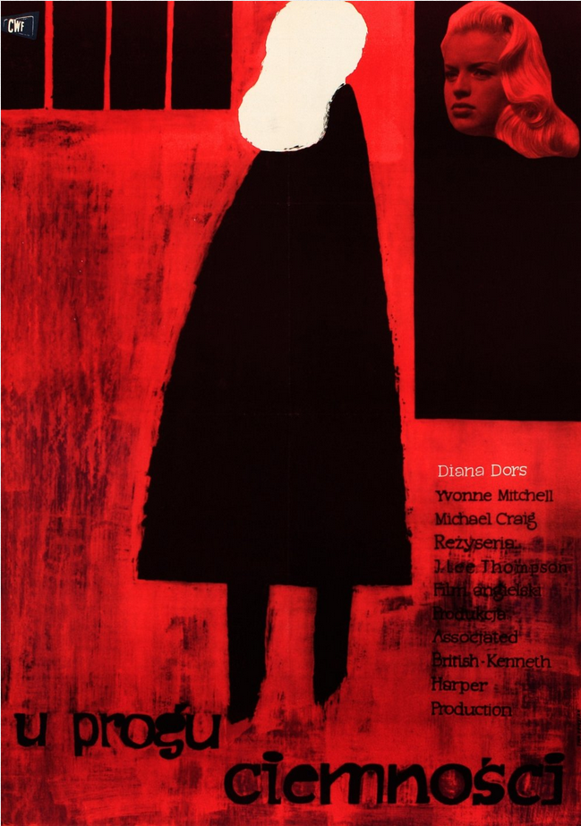 """Polish Movie Poster by Ewa Frysztak, 1960,  """"Yield to the Night"""" directed by John Lee Thompson, Britain."""