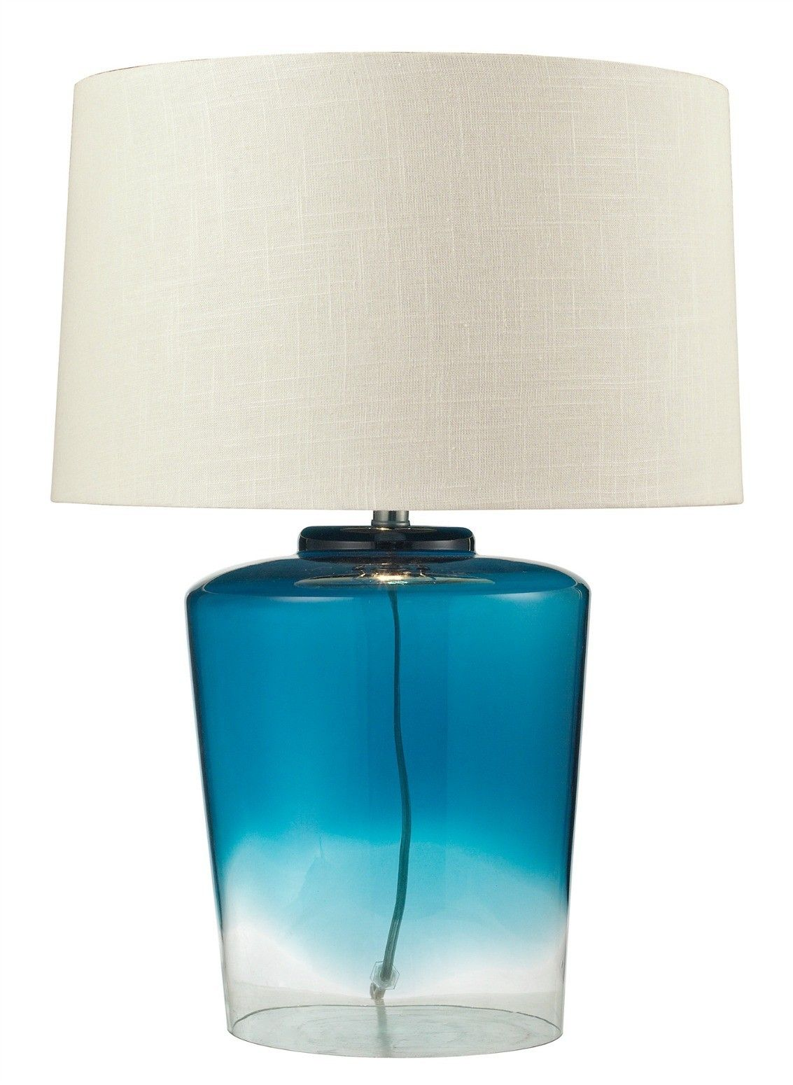 Blue glass table lamps  Blue Sea Glass Table Lamp  Doces Abobrinhas  Pinterest  Glass