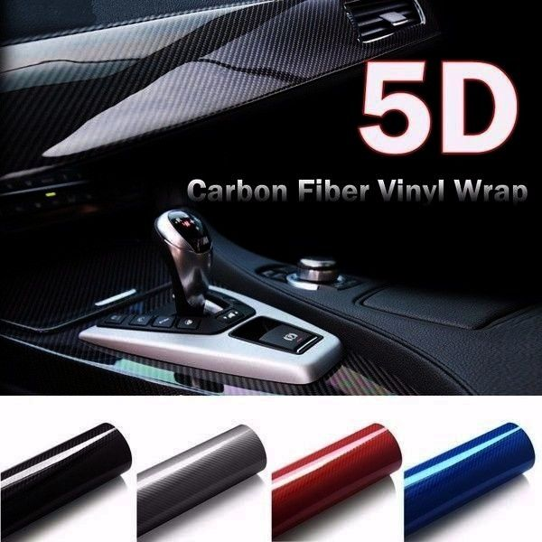 High Glossy Carbon Fiber Vinyl Wrap Film Car Truck Stickers Accessories DIY Interior Styling  Wish Hot 5D High Glossy Carbon Fiber Vinyl Wrap Film Car Truck Stickers Acce...