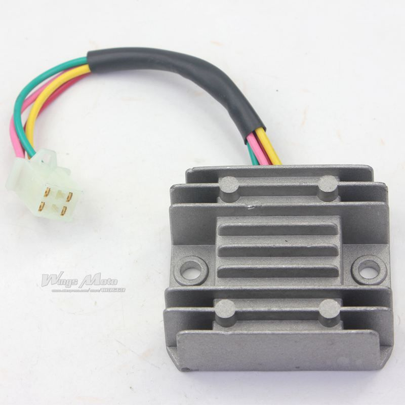 Voltage Regulator Rectifier 4 Wires for ATV GY6 50 150cc Scooter Motorcycle Boat