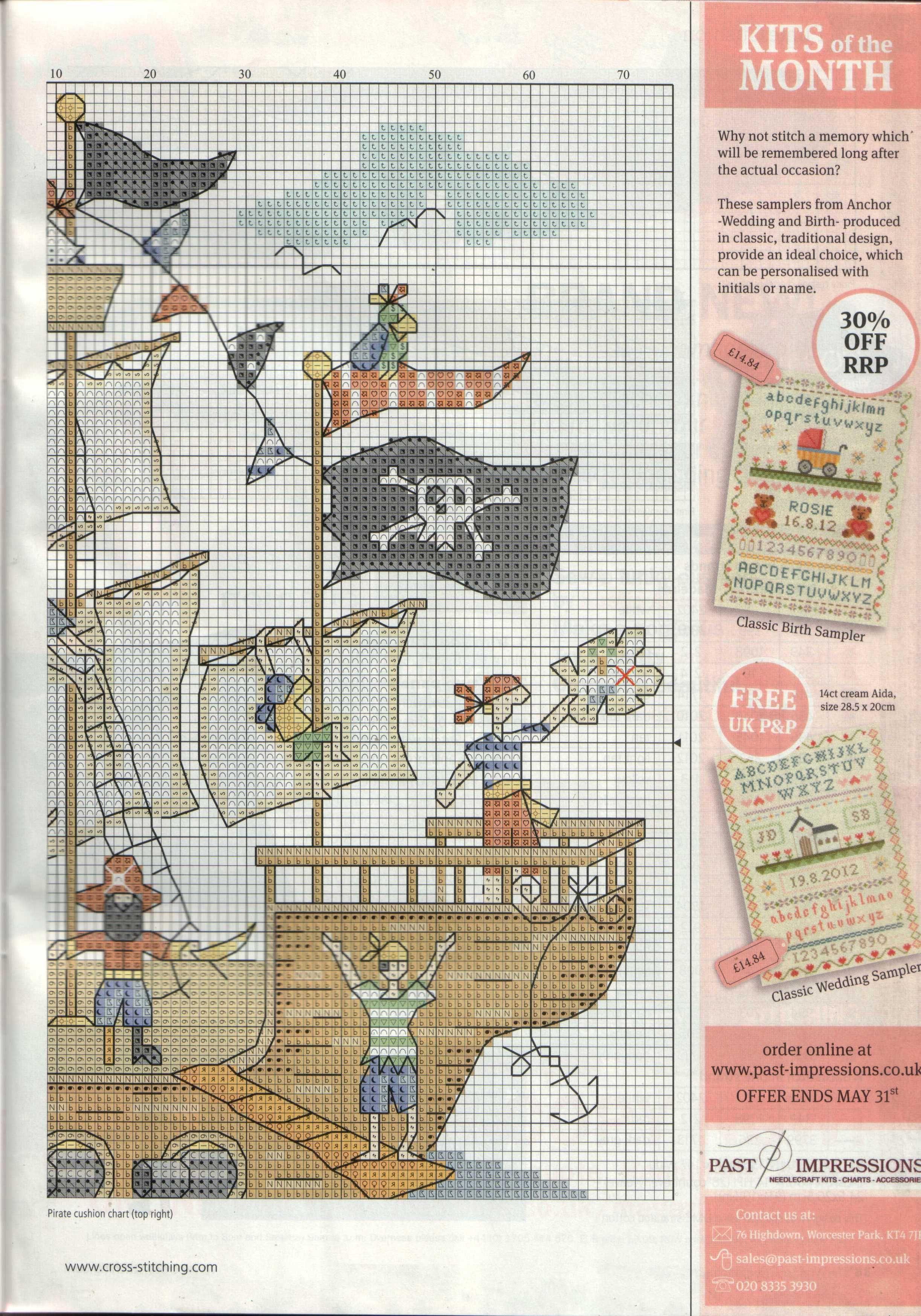 Bothy Threads Kit de broderie au point de croix Motif bateau de Pirate