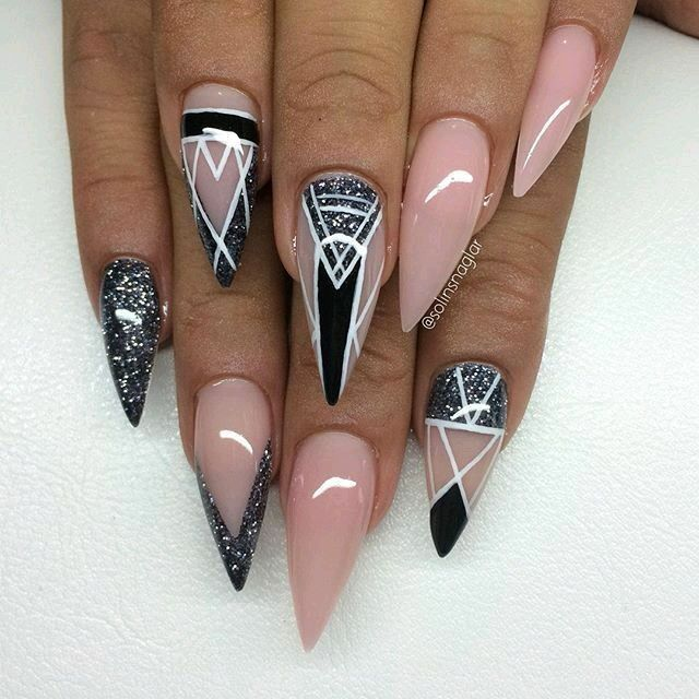 Blended Color Nails I Love Pinterest Nail Nail Manicure And