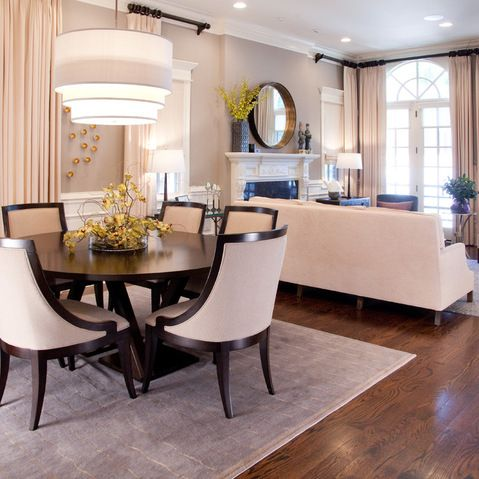 Chicago Urban Sophisticate In Roscoe Village Living Room Dining
