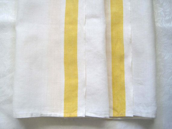 vintage tea towels yellow striped set of 2 by SharetheLoveVintage, $21.50