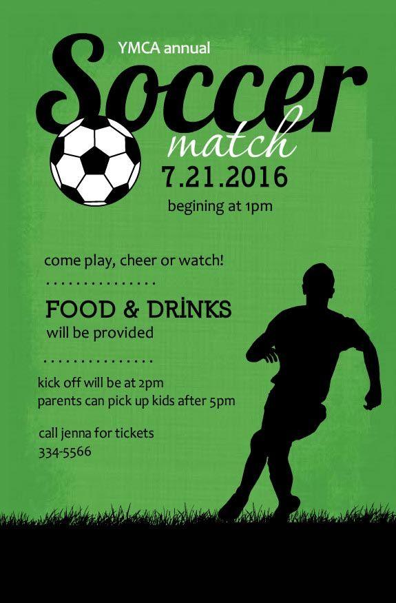 Soccer Birthday Party Invitations Birthday Party Pinterest