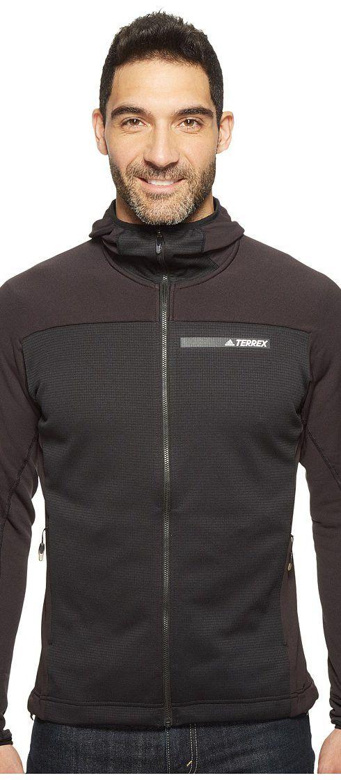 adidas Outdoor Terrex Stockhorn Fleece Hooded Jacket (Black) Men's Coat - adidas Outdoor, Terrex Stockhorn Fleece Hooded Jacket, B47238-001, Apparel Top Coat, Coat, Top, Apparel, Clothes Clothing, Gift, - Fashion Ideas To Inspire