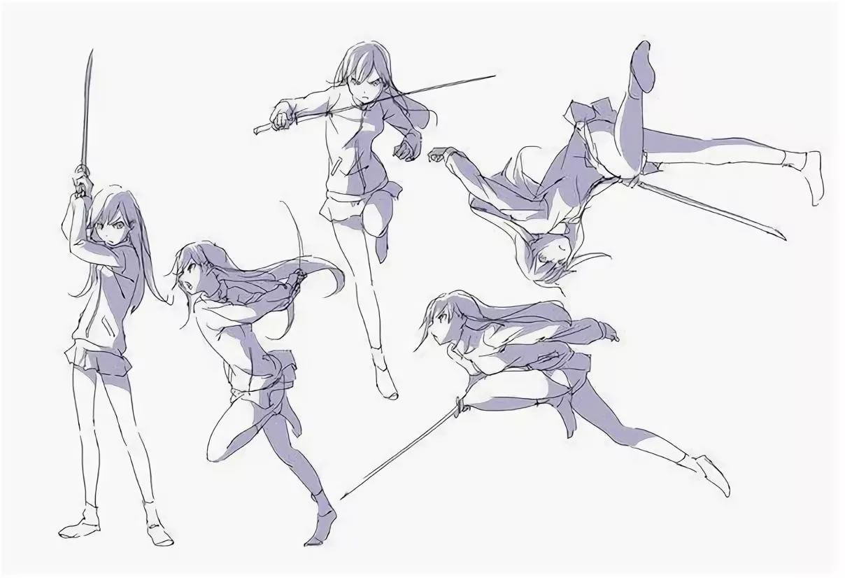 позы с мечами в картинках новым годом