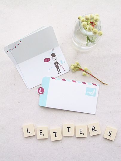 Free Printable Mini Greeting Card And LetterWriting Set  Snail