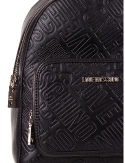 89825af4d8 LOVE MOSCHINO ZAINO DONNA ECOPELLE LETTERING NERO | LOVE Moschino ...