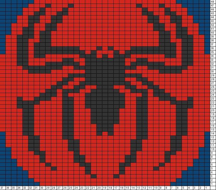 Tricksy Knitter Charts: spider-man (73388) (73389): | Cross stitches ...