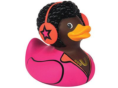 Bud Luxury Rubber Duck  'DJ Duck'  Disc Jockey 10cm tall