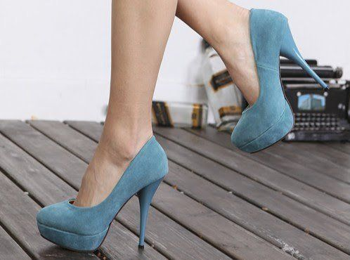 #blue #suede #heels #platforms #heels