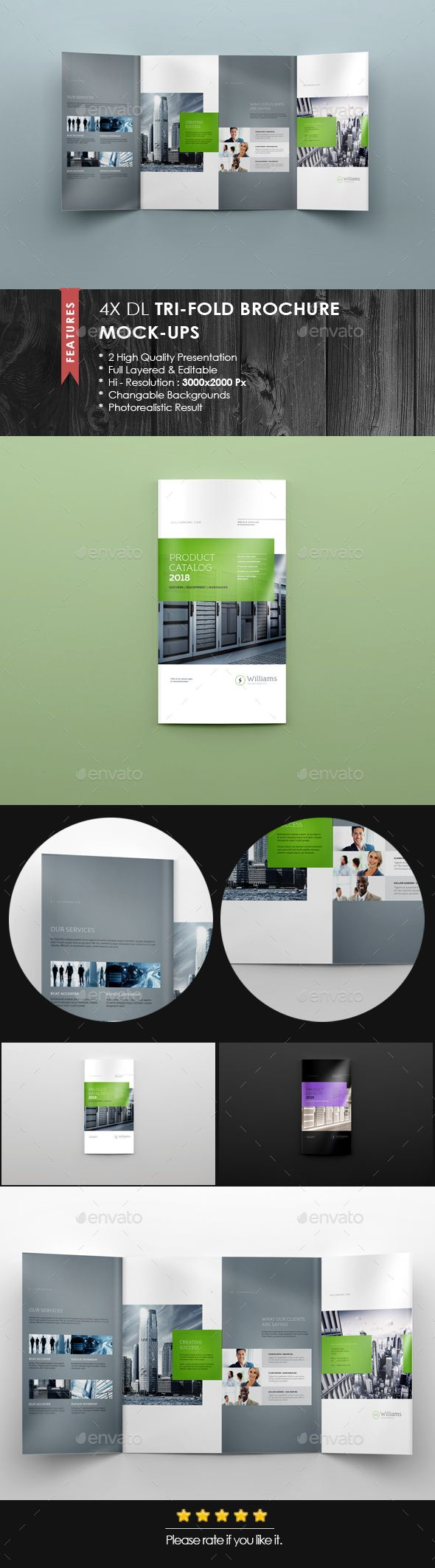 Xdl Double Gate Fold Brochure MockUp   Mockup Brochures And