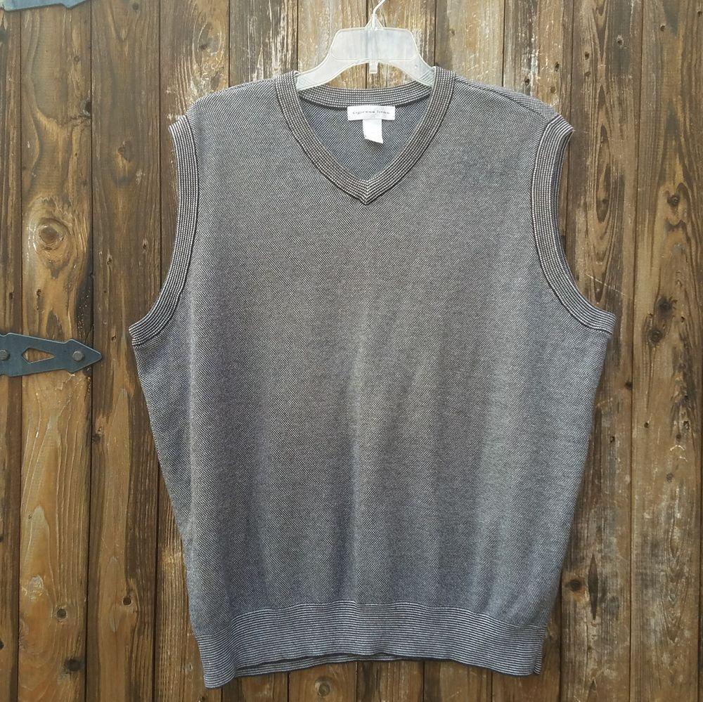 Cypress Links Mens Size 2X Black White Cotton Golf V-Neck Sweater ...