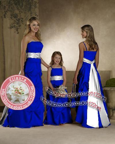 Royal Blue And Silver Blue Themed Wedding Blue Wedding Dress Royal Royal Blue Bridesmaids